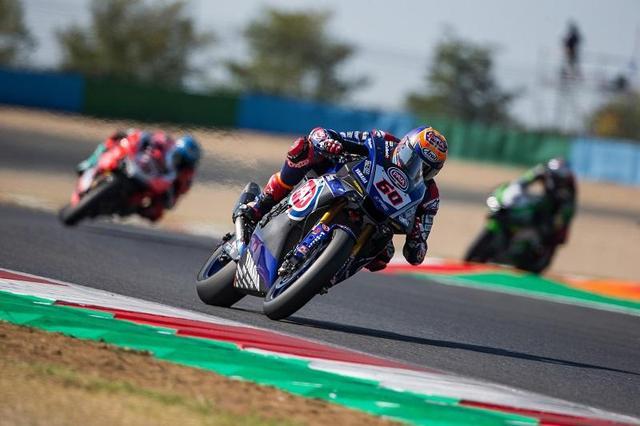画像: レース2で3位に入ったM.V.D.マーク(ヤマハ)。現在ランキング3位で、2位のC.デイビス(ドゥカティ)との差は26点です・・・。 race.yamaha-motor.co.jp