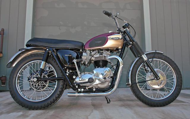 画像: 1967年型トライアンフT120TT Specialは、T120ボンネビルの市販レーサーバージョンです。 www.bonhams.com