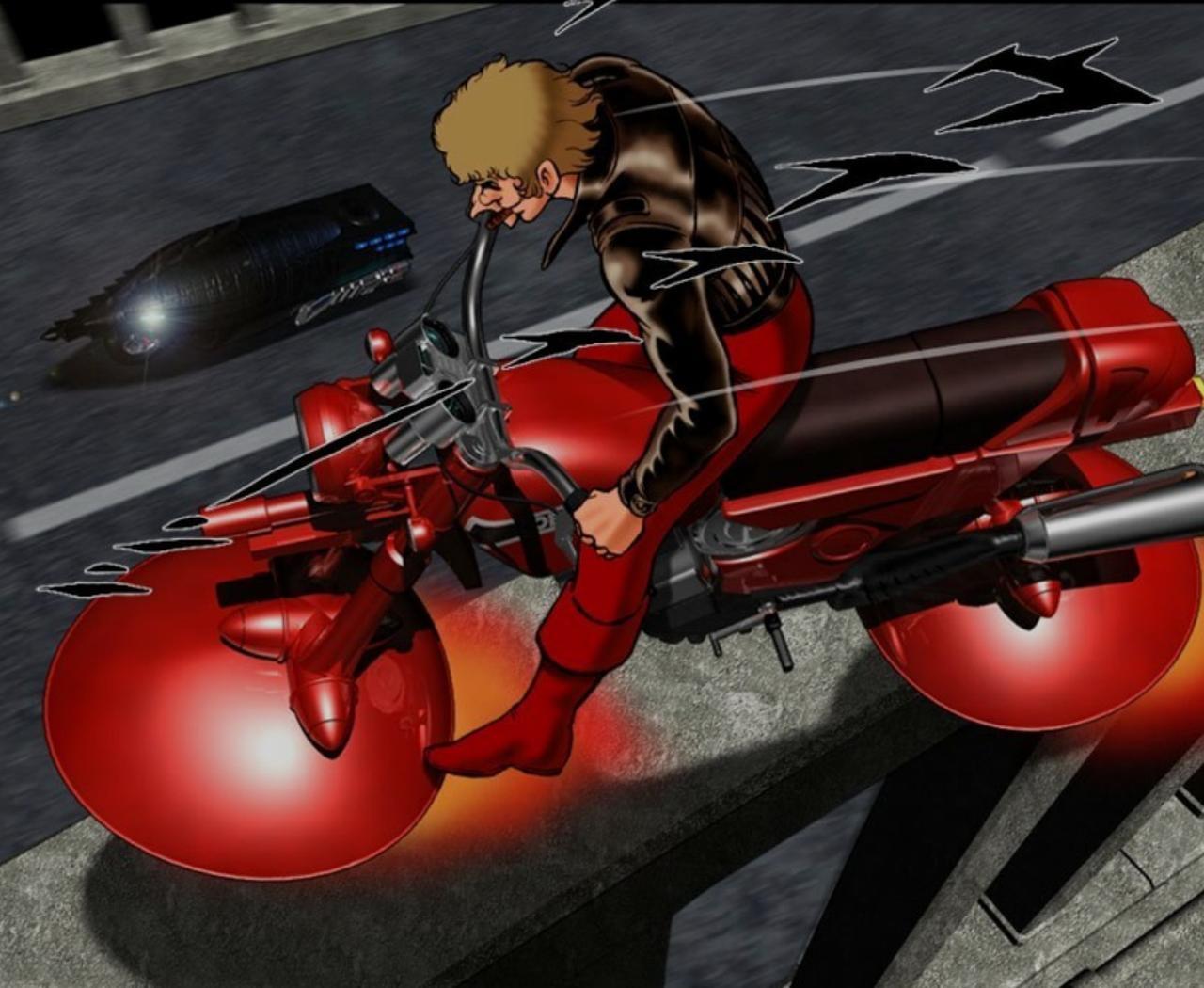 画像: コブラとしてば、このエアーバイクのイメージが強いです。エアーバイクで単騎 敵軍に突っ込む姿、そしてゆっくり左腕を外して、サイコガンを構える姿。かっこよすぎなんです。