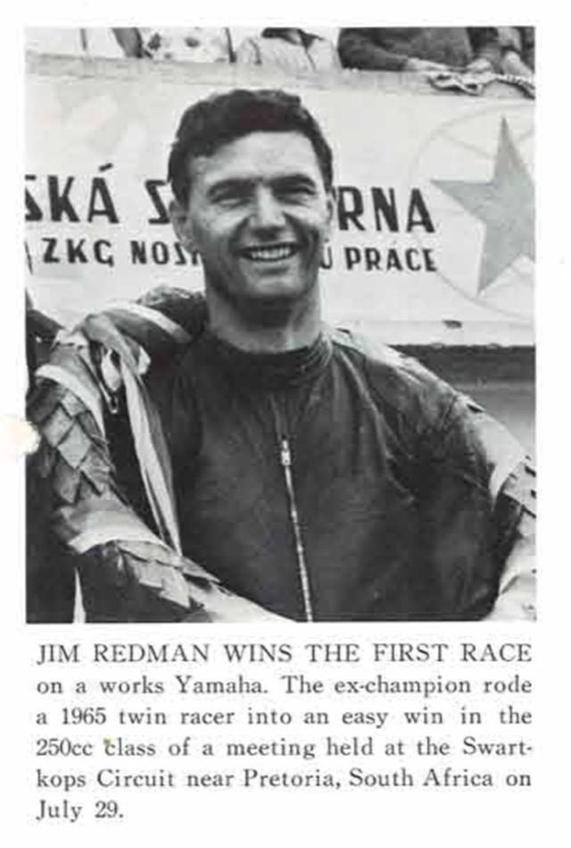 画像: ヤマハニュース(英語版)1967年第6号(10月号)に掲載された、レッドマンの南ア・プレトリアでのレースの勝利を伝える記事。 global.yamaha-motor.com