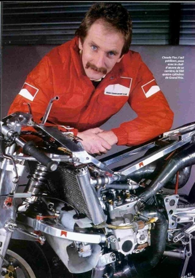 画像: フランス・ノガロ生まれのクロード・フィオールは、テレスコピックフォーク以外のフロントエンドを用いることを、GPの世界で挑戦した人物でした。 ru.wikipedia.org
