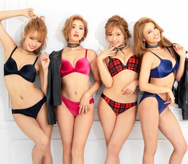 画像: (RIRI,KANA,KANAE)ベロア 超盛ブラ(R) 単品ブラ ¥2,700(+税) (KAZUE)タータンチェックベロア 超盛ブラ(R) 単品ブラ ¥2,900(+税) shop.aimerfeel.jp