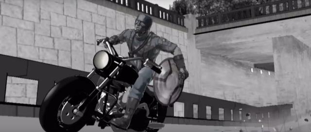 画像: コンテとなるCG動画。ハーレーダビッドソンっぽいですけど、この段階では実際のストリート750っぽくないバイクが描画されていたのですね。 www.youtube.com