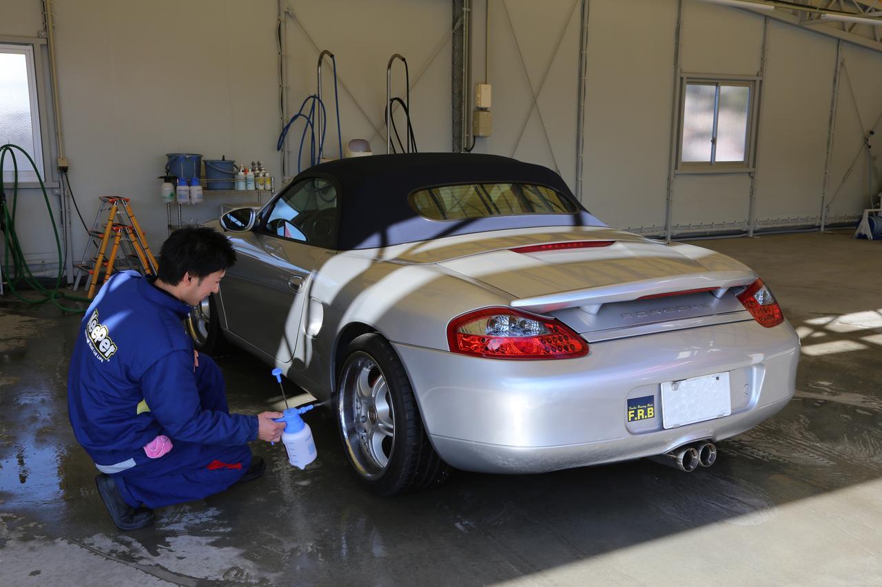 画像1: まずは洗車タイム