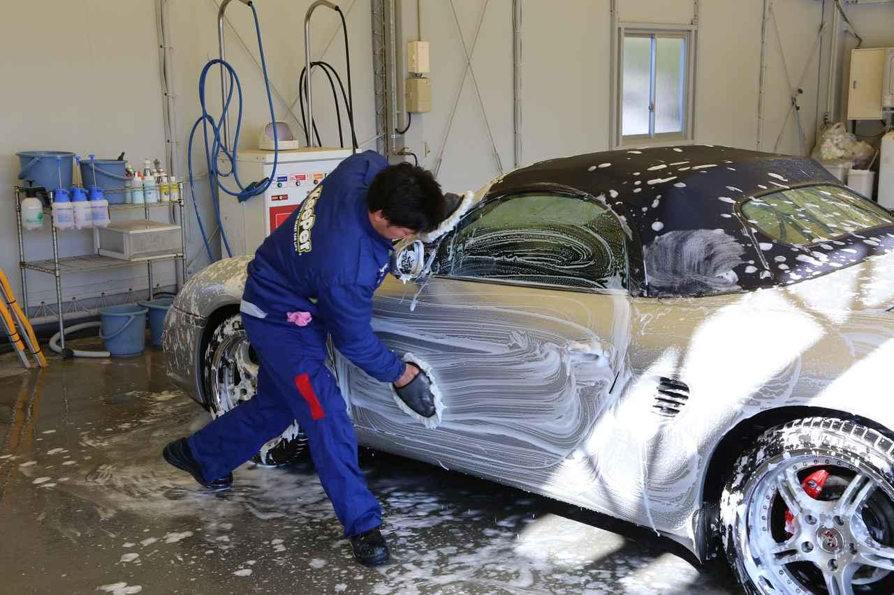 画像3: まずは洗車タイム