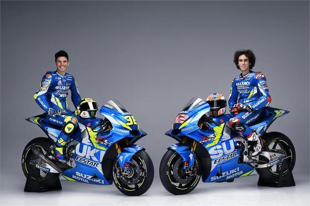 画像: MotoGP3年目となるA.リンス(右)とMotoGPルーキーのJ.ミル。24歳と21歳のフレッシュコンビです。 www.suzuki-racing.com