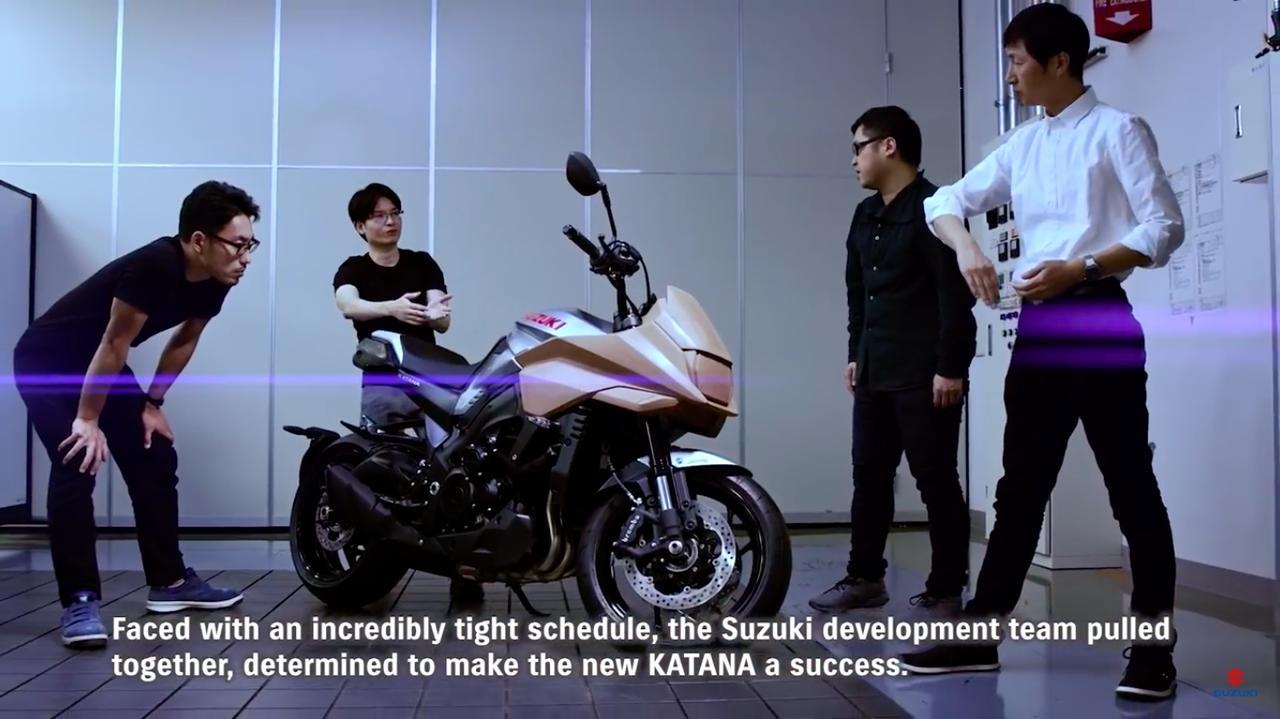 画像: 新時代のKATANAにふさわしいカタチを、スタッフは考え抜いたそうです。 www.youtube.com
