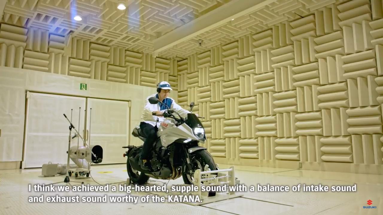 画像: 吸気音、排気音にもこだわったところが、新型KATANAのウリのひとつです。 www.youtube.com