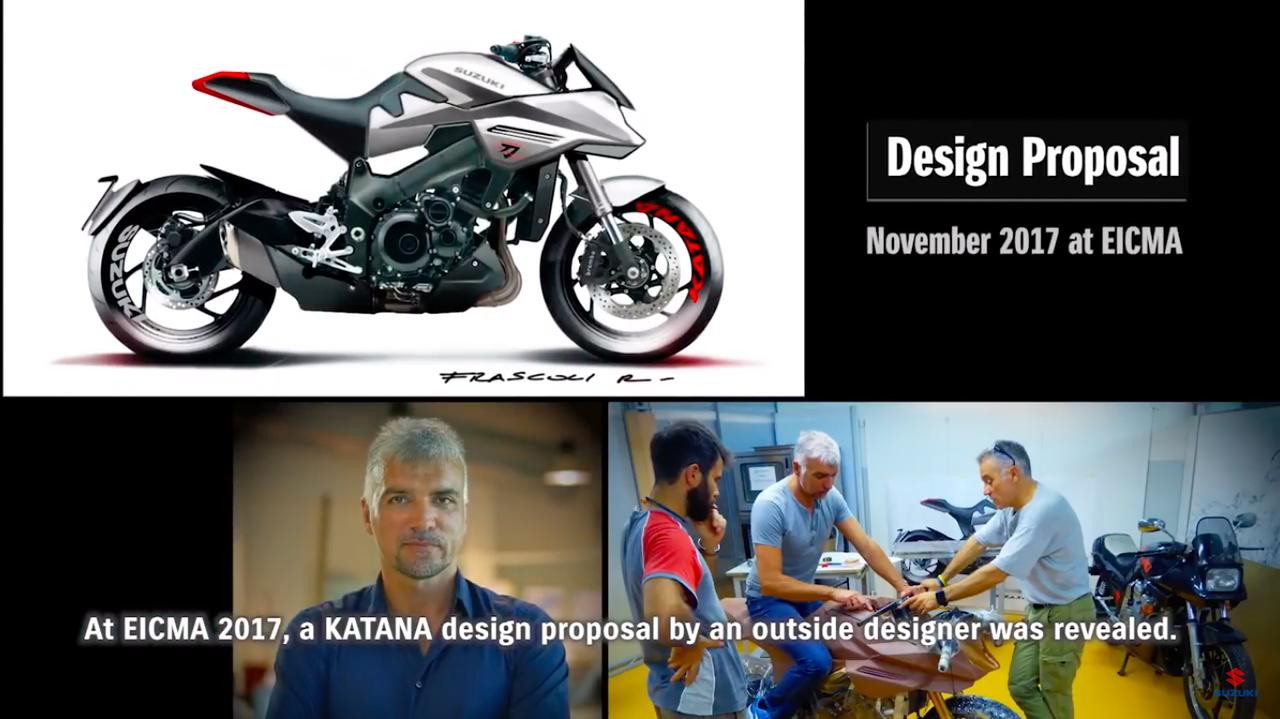 画像: 2017年のミラノショーで、KATANAのデザインプロポーサルが発表されたとき、多くの人がどんな市販車が出るのか注目しました。 www.youtube.com