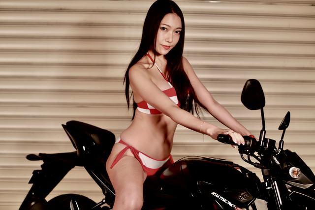 画像2: 【Beauty & Bike】羽衣とGSX-S125 vol.01