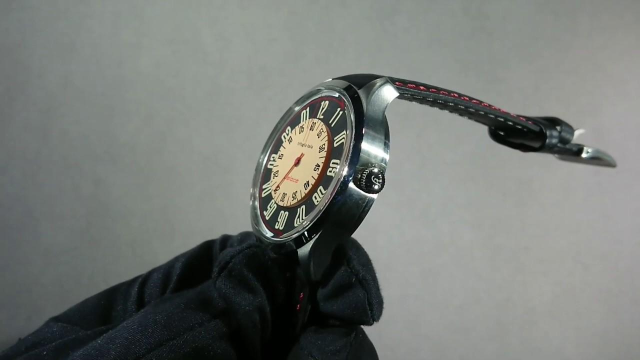 画像: Trifoglio Italia VELOCE - ヴィンテージカーのスピードメーターにインスパイアされたレトロな回転ディスク時計 トリフォグリオ ヴェローチェ (VL181SSBK) youtu.be
