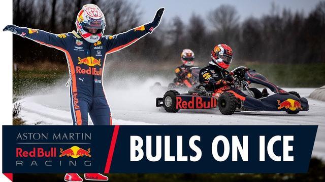画像: Bulls On Ice | Max Verstappen and Pierre Gasly Go Karting On Ice youtu.be