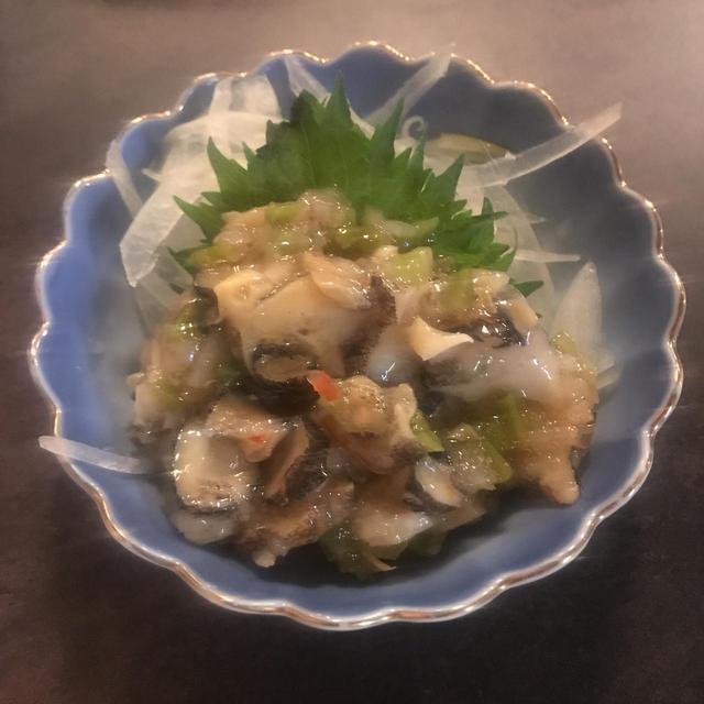 画像: つぶ貝の山葵和え ¥490