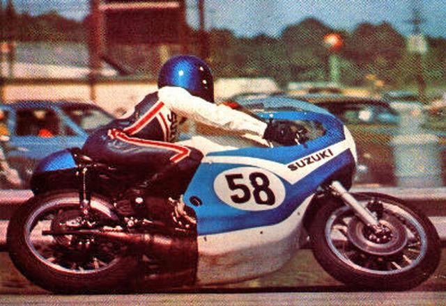 画像: 1972年デイトナ。ジョディ・ニコラスとスズキTR750 www.classic-motorrad.de