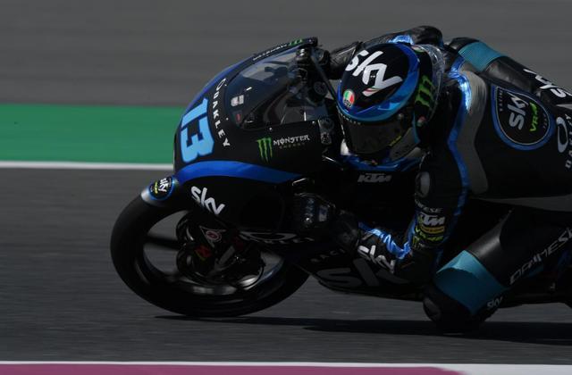 画像: Q1トップ通過のC.ヴィエッティ www.motogp.com