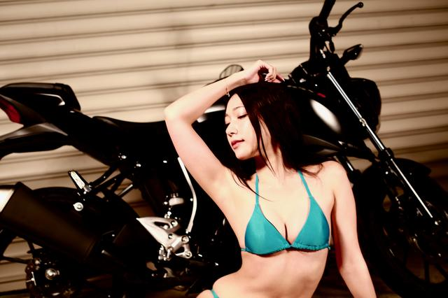 画像1: 【Beauty & Bike】羽衣とGSX-S125 vol.18
