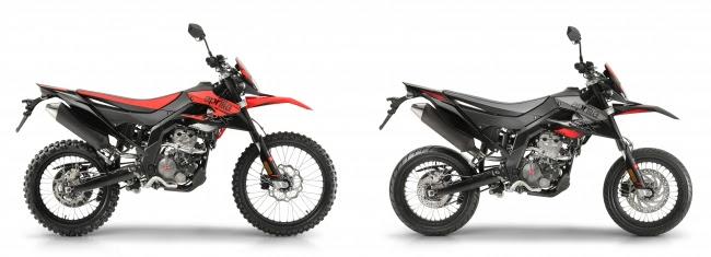 画像: RX 125(左)、 SX 125(右)