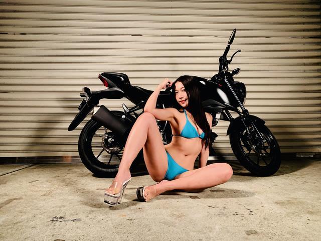 画像2: 【Beauty & Bike】羽衣とGSX-S125 vol.21