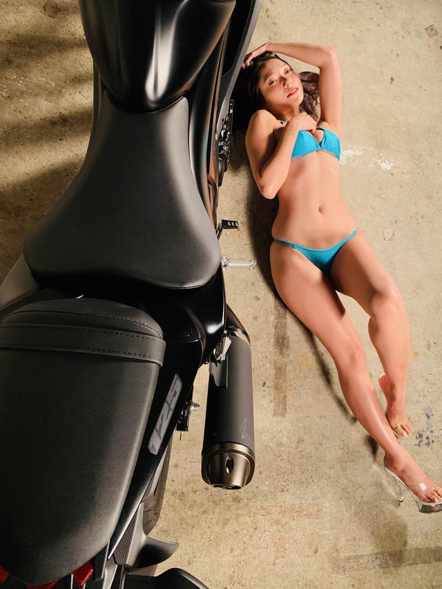 画像2: 【Beauty & Bike】羽衣とGSX-S125 vol.22