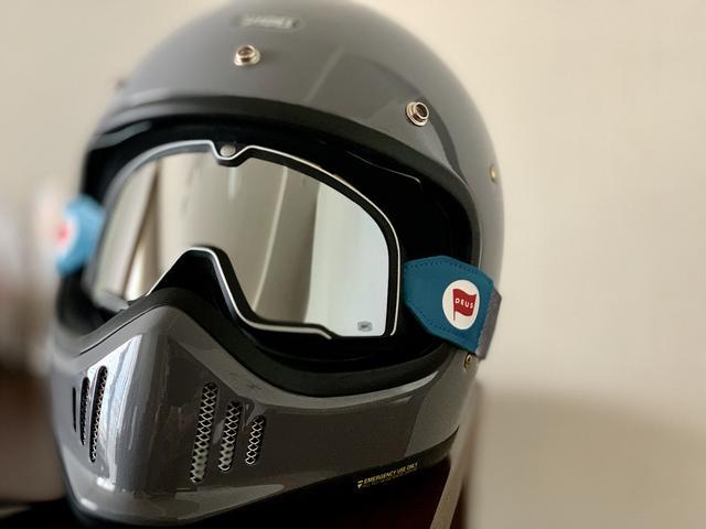 画像: ホントにお気に入りのヘルメット EX-ZERO、インナーシールドも良いのですが