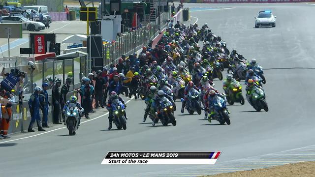 画像: 24 Heures Motos - Start of the race youtu.be