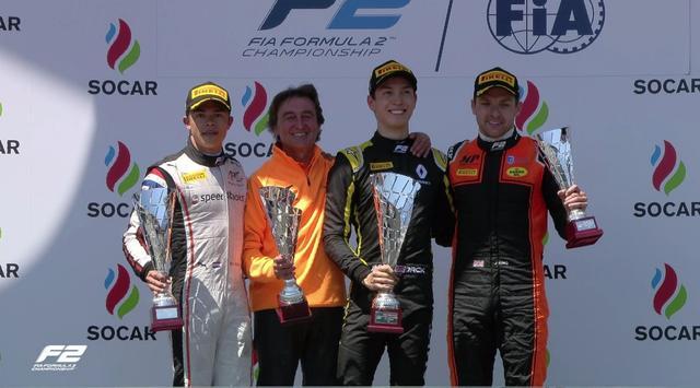 画像: 開幕戦とは違う顔ぶれとなった第2戦レース1の表彰台 twitter.com