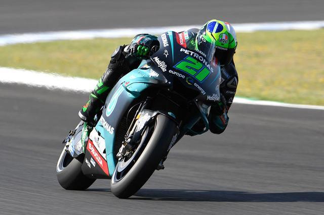 画像: チームメイトのクアルタラロに対し、僅差で予選2番手となったF.モルビデリ(ヤマハ、写真は初日のものです)。 race.yamaha-motor.co.jp