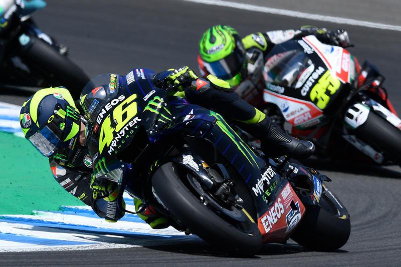 画像: 終盤の追い上げで、6位までポジションを上げたV.ロッシ(ヤマハ)。 race.yamaha-motor.co.jp