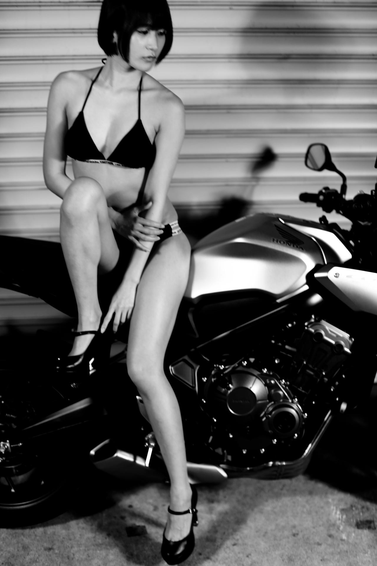 画像3: 【Beauty & Bike】うさことCB650R Vol.07