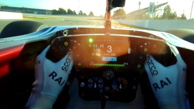 画像: Raikkonen Visor Camera | Barcelona-Catalunya Circuit youtu.be
