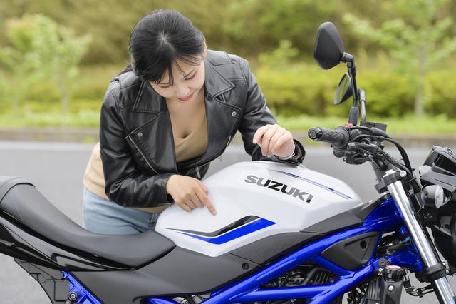 画像2: 大型バイク初心者必見! 自分のバイクを持ったことがないビギナー女子にSV650を乗せてみた!?