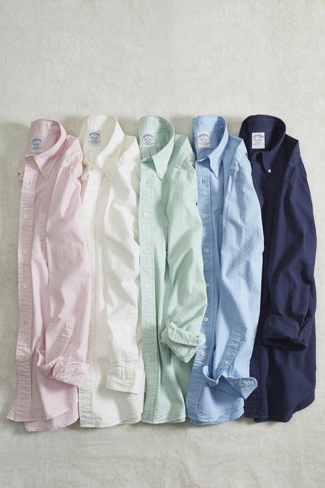 画像: リネンシャツ 各14,000円(税抜) www.brooksbrothers.co.jp