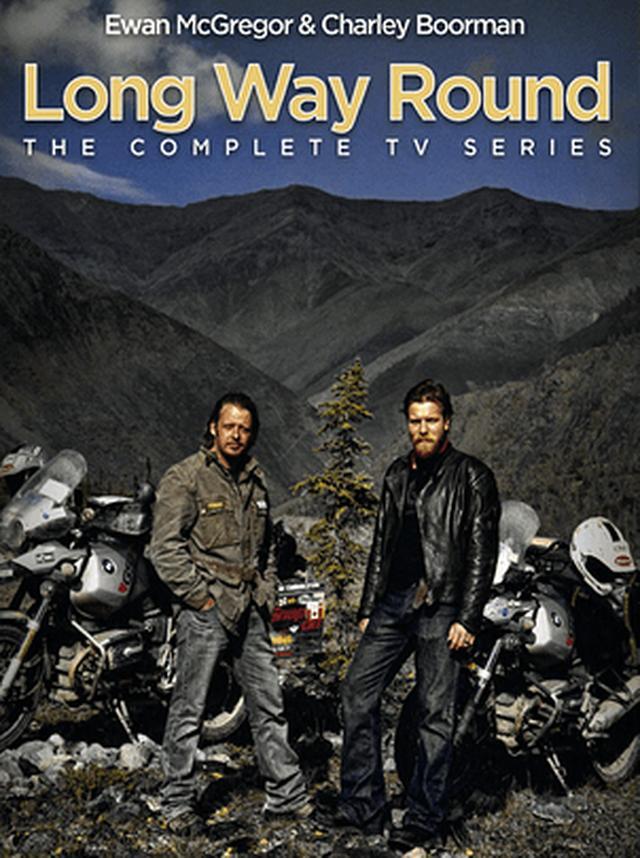 """画像: 相棒チャーリー・ブアマンと共に、2輪車で世界を走る""""Long Way Round""""は、TVシリーズ、書籍ともにヒット作になりました! www.elixirfilms.com"""
