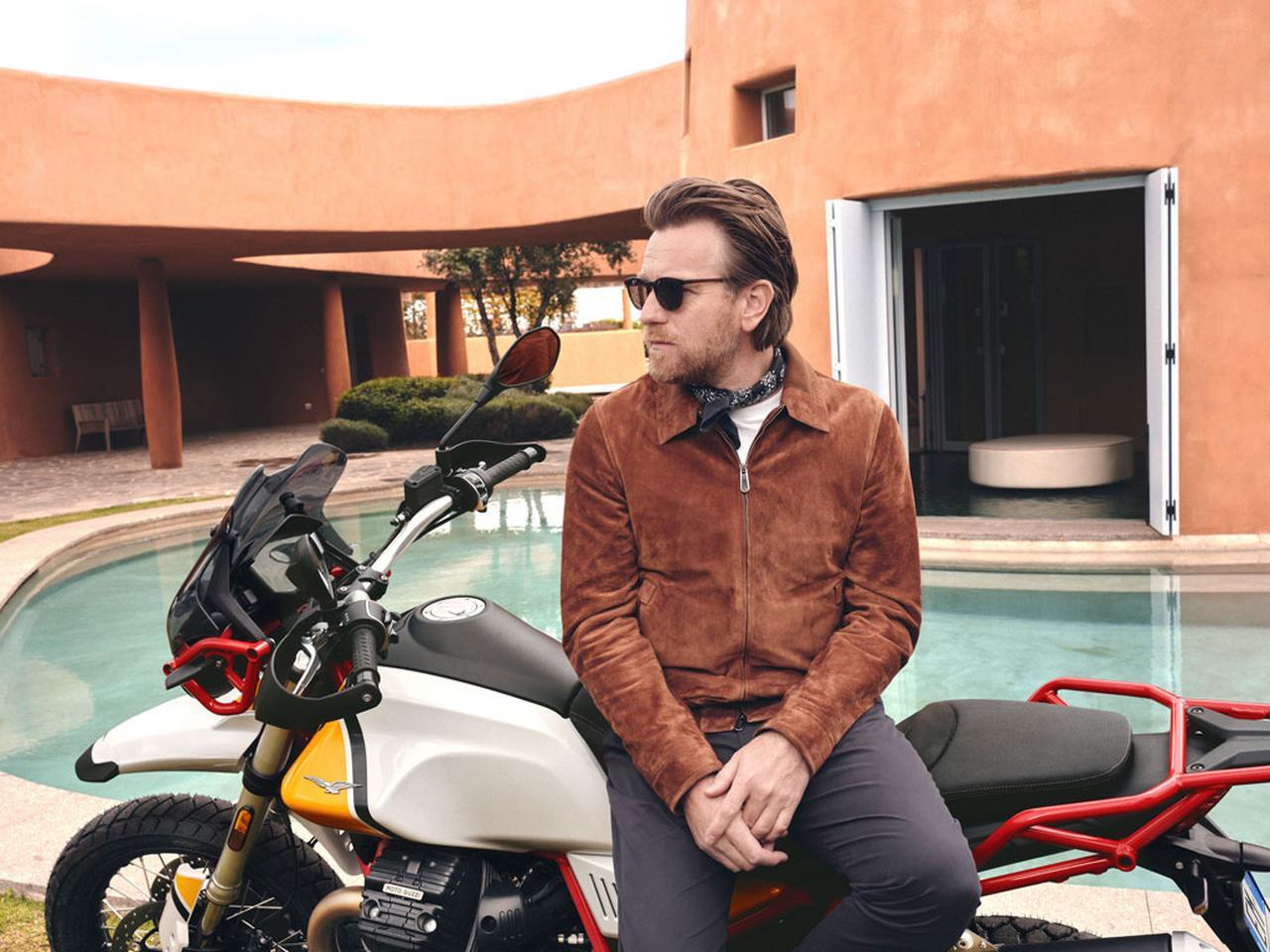 画像: Ewan McGregor is back on a Mandello bike - Moto Guzzi