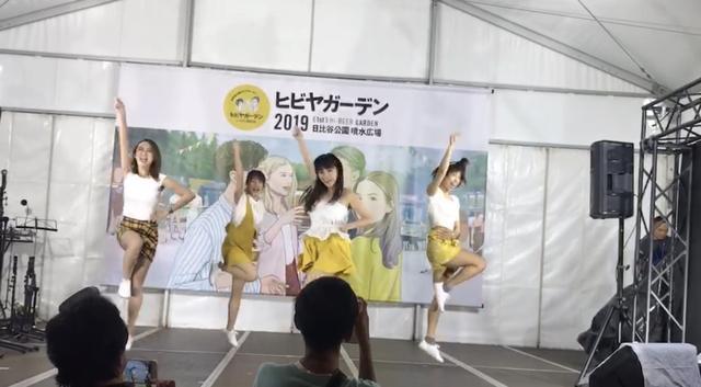 画像: 毎日ヒビヤガールのダンスパフォーマンス! karaの「ミスター」4人バージョン