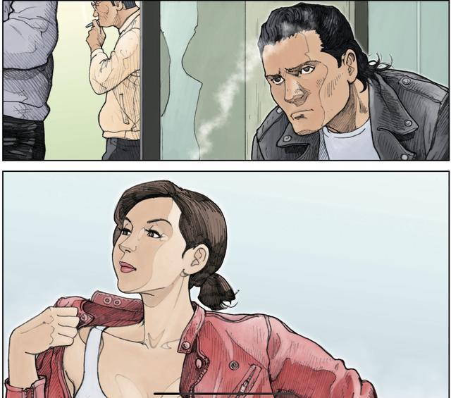 画像: 赤いライダースに身を包むいい女に目が止まった。