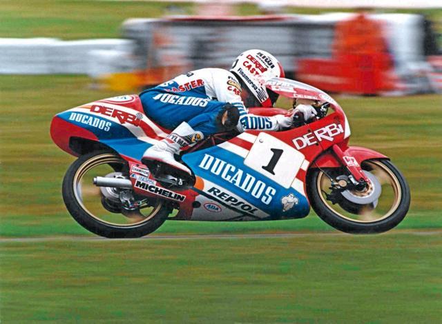 画像: 1987年、デルビで80ccクラスタイトルを獲得したJ.マルティネス。 as.com