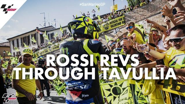 画像: Hometown hero: Rossi revs through Tavullia | 2019 #SanMarinoGP youtu.be