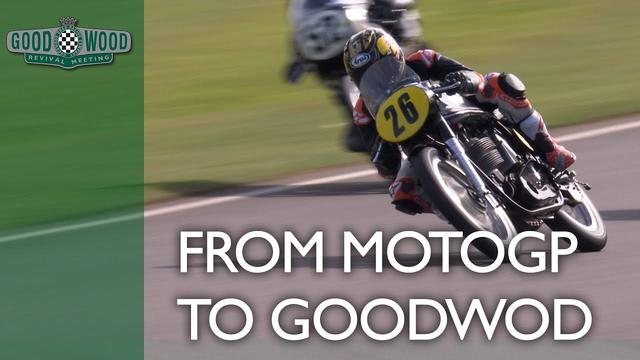 画像: MotoGP star Dani Pedrosa makes Goodwood debut on 52-year-old bike youtu.be