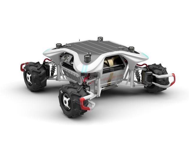 画像: Land Link Concept ランド リンク コンセプト (特別出展物) 周囲をセンシングしながら大地を自在に移動する自律ソリューションビークル。開発コンセプトは「呼応し合う・LINK」。AI画像認識により自ら走路を判断。行く先を拒む障害物を検知し、自ら避けて走行。それぞれ操舵・駆動可能な4つの車輪で方向を問わない移動を実現。高い機動力を備え、人とともに作業するために必要な器用さを持ち合わせる。 global.yamaha-motor.com