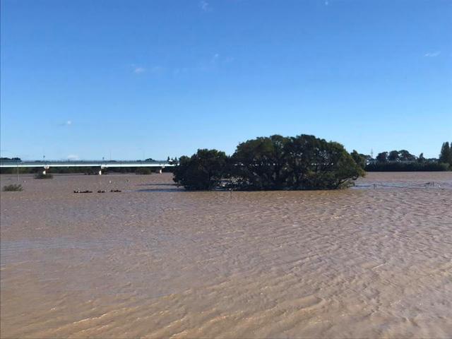 画像: 入間川と荒川の間にある「オフロードヴィレッジ」は、ご覧のようにコースのほとんどが水に浸かりました・・・。 www.facebook.com