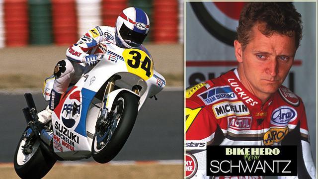 画像: Kevin Schwantz the Wheelie King! Macau Grand Prix 1988 | Pepsi Suzuki RGV500 youtu.be
