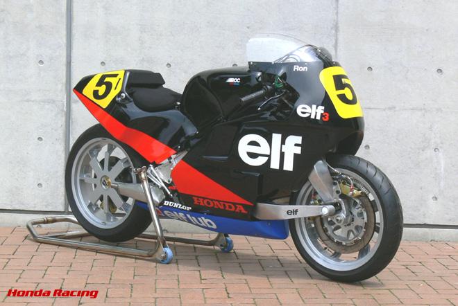 画像: ELF 3はいわば、デ・コルタンツがモト・エルフに描いた理想像をあえて放棄し、実戦でのリザルトを残すという実利を追い求めたモデルでした。ロゼとトレマが開発したモデルです。独立したフレームが与えられています。 www.honda.co.jp
