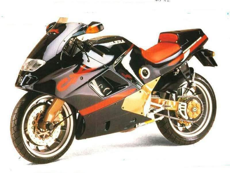 画像: 1991年にピアッジオ傘下のジレラからデビューしたCX125(2ストローク単気筒125cc)に採用されているリアスイングアーム「モノアーム」もELFのパテントが使われていました。 2.bp.blogspot.com