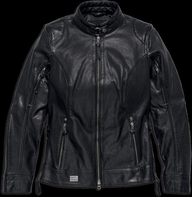 画像: LINE STITCHER レザージャケット バッファローレザーを使用した本格派ジャケット。しっかりとした素材ながら、柔らかく馴染みやすい革質が特徴。