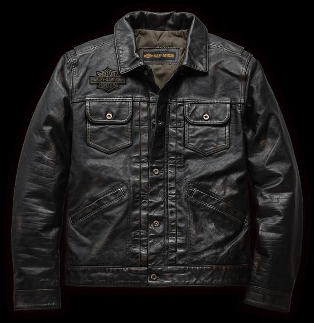 画像: ディガー・スリムフィット・レザージャケット ウォッシュ&ワックス加工のレザーに、ダメージグラフィックを添えた、時代を超越したボンバースタイリングの一着。