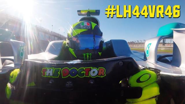 画像: Valentino Rossi Formula One Onboard - Driving Lewis Hamilton's Mercedes-AMG F1 W08 youtu.be