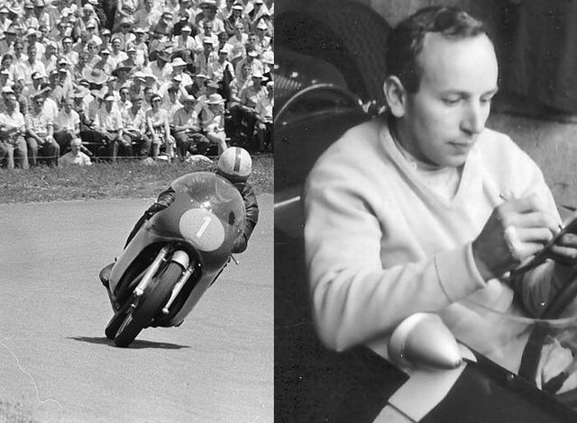 画像: J.サーティーズは1956〜1960年の間、MVアグスタのエースとして世界ロードレースGP(現MotoGP)に参戦し、350、500ccクラスで合計7度世界王者に輝きました。そして1964年にはフェラーリに所属し、F1のタイトルを獲得しています。唯一の2&4両方のGPタイトル保持者は2017年3月10日に、83歳でこの世を去りました。 en.wikipedia.org