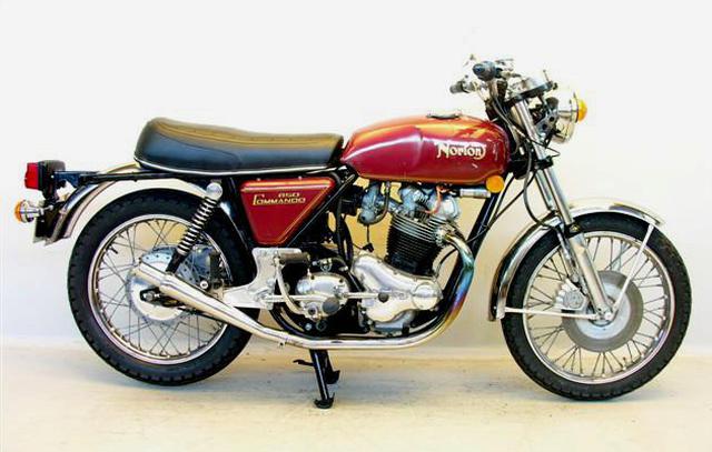 画像: 1973年型ノートン850コマンド(空冷4ストロークOHV2気筒)。NVT=ノートン-ビリヤース-トライアンフ 時代に生まれた製品です。 en.wikipedia.org
