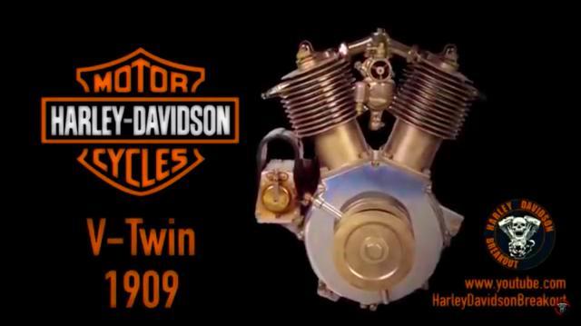 画像: 1909年型からは、すべてVツインモーターが登場します。なお、AMF時代の2ストロークモデルなどは登場しません。あしからず(笑)。 www.youtube.com